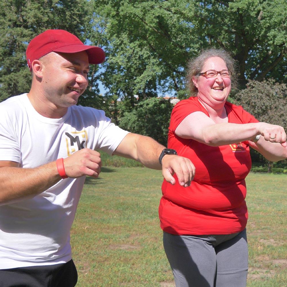 Personal Training Marcel Kucharski und Susanne abnehmen und Diabetes besiegen in Cottbus